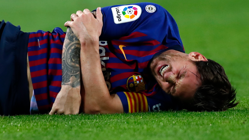 Inter Milan Send A Brilliant Message To Lionel Messi After He Suffers Fractured Arm