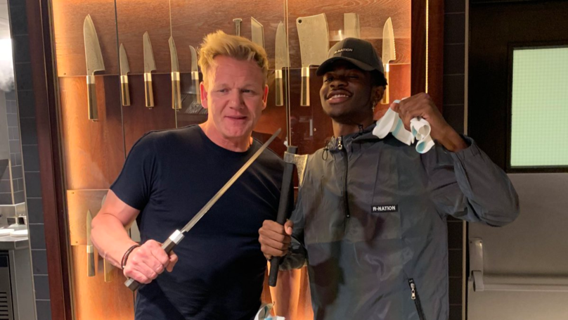 Lil Nas X And Gordon Ramsay Met Up To Make Paninis