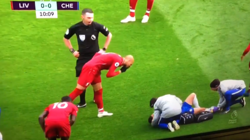 Liverpool's Fabinho Appears To Blow His Nose On Chelsea's Eden Hazard