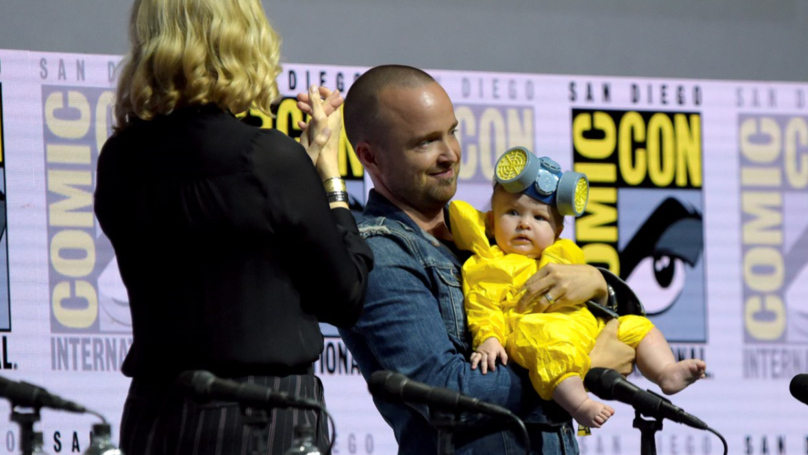 ​Aaron Paul Dresses Baby Daughter Up As Heisenberg At Comic-Con