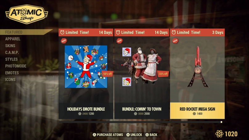 'Fallout 76' Players Aren't Happy With Bethesda's New Christmas Gear