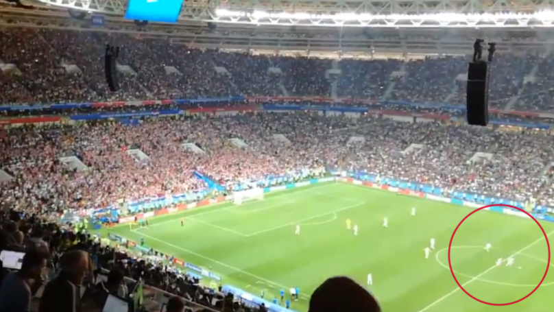 Fan Footage Shows England Trying To Score When Croatia Were Celebrating Goal