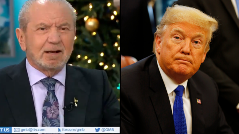 Lord Sugar Calls President Donald Trump A T*sser On 'Good Morning Britain'