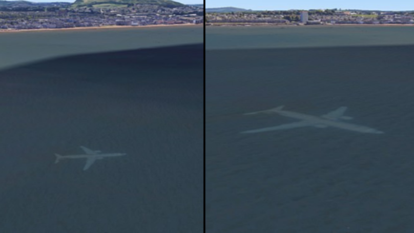 Dad Discovers Plane Under The Sea Off The Coast Of Scotland On Google Maps