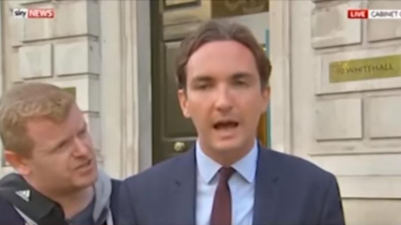 Man Stops Live News Broadcast To Ask Presenter A Random Question
