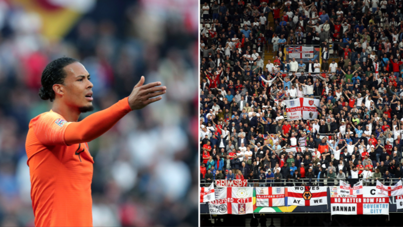 "England Fans Branded ""Embarrassing"" For Booing Liverpool's Virgil van Dijk During UEFA Nations League Match"