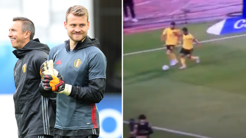 Belgium Teammates Troll Eden Hazard For Stealing The Ball Off Yannick Carrasco
