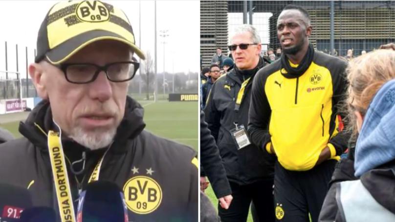 Borussia Dortmund Manager Just Broke Usain Bolt's Heart In Brutal Live Interview