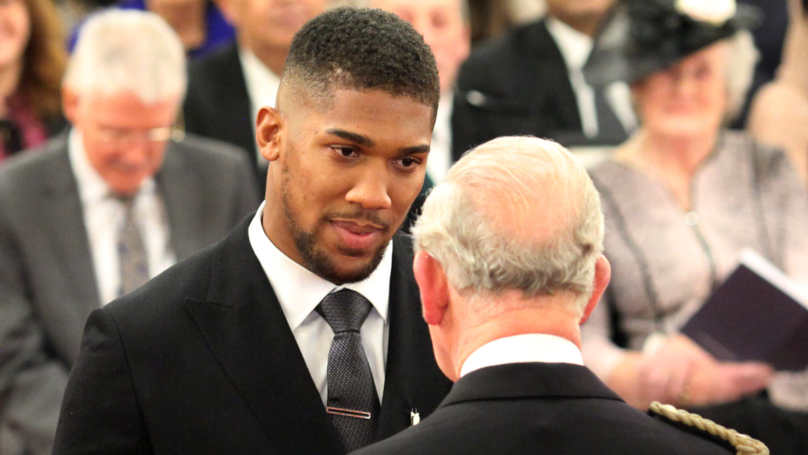 Anthony Joshua Awarded OBE By Prince Charles For Services To Sport