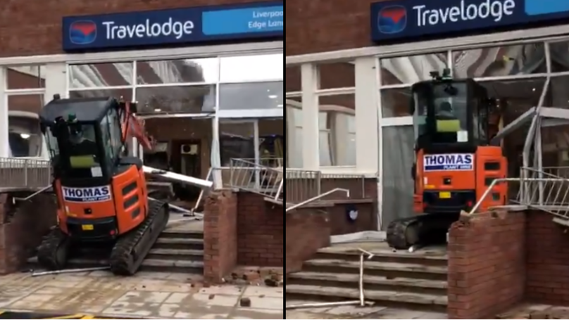 Digger Driver Destroys Brand New Travelodge Hotel Because He's 'Owed £600 Unpaid Wages'