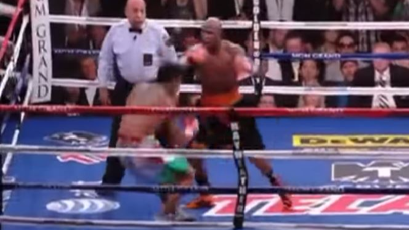 THROWBACK: Floyd Mayweather's Infamous Sucker Punch  | SPORTbible