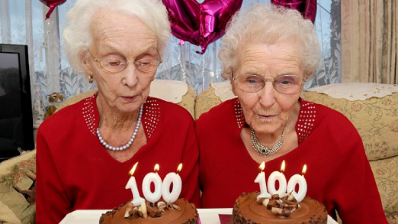 Twins Celebrate Their 100th Birthday By Going The Pub