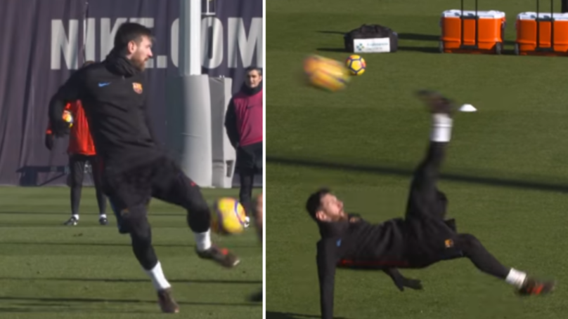 Watch: Lionel Messi Takes The P*ss In Barcelona Training
