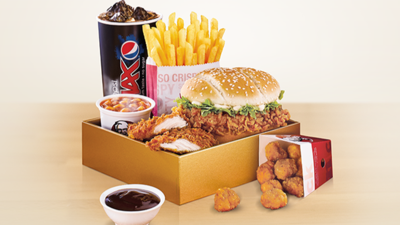 KFC's Trilogy Box Meal Is Back For National Fried Chicken Day And There's A Discount