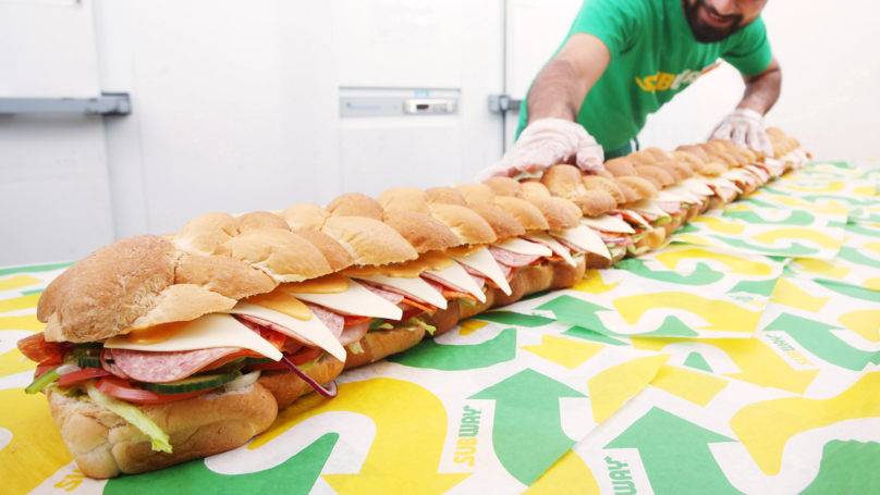 You Can Now Buy A Massive Six-Foot Long Sandwich At Subway To Fill You Up