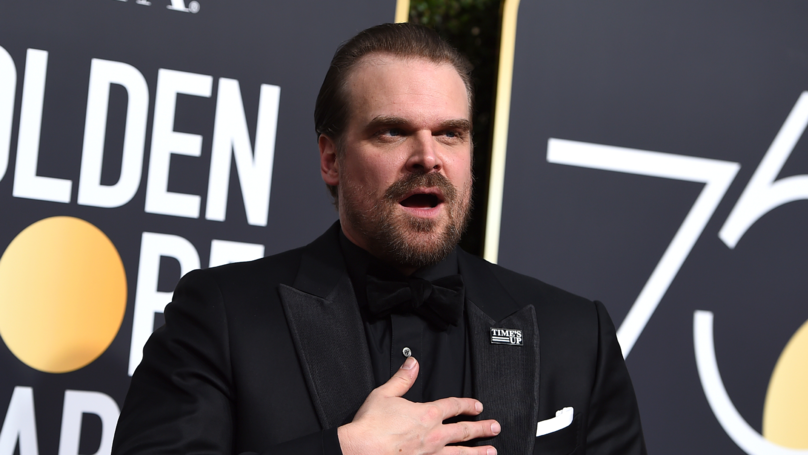David Harbour Poses With Trombone For High School Fan's Senior Photo