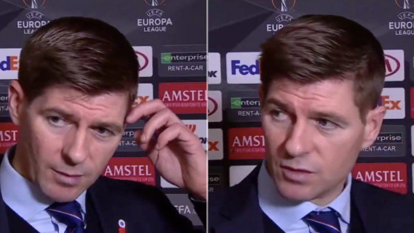 Steven Gerrard Roasts His Own Players In Remarkable Post-Match Interview After 4-3 Defeat