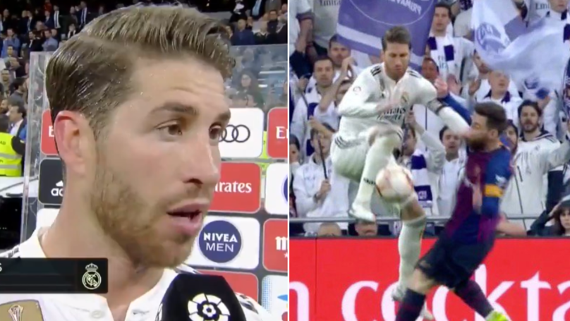 Sergio Ramos Responds When Asked If He Elbowed Lionel Messi During El Clasico