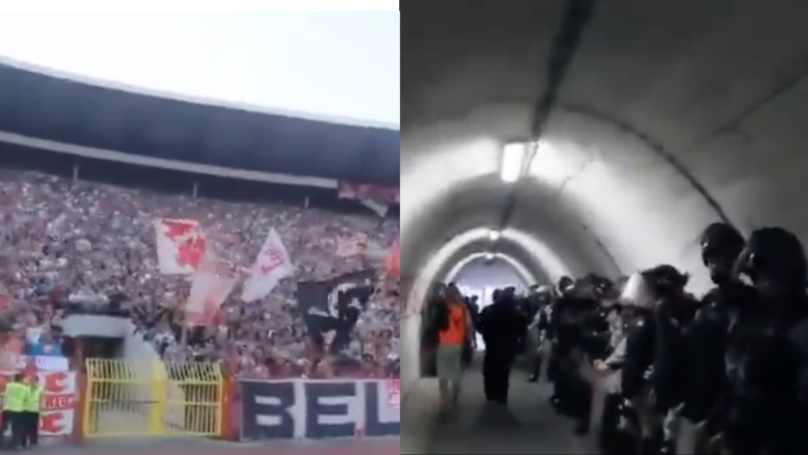 Entrance Tunnel For Red Star's Rajko Mitić Stadium Is Seriously Intimidating