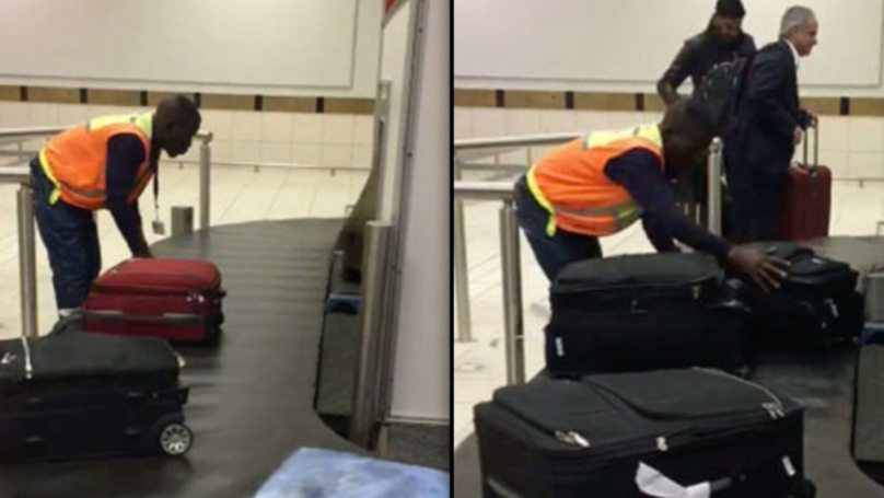 South African Baggage Handler Spotted Treating People's Luggage With Great Care