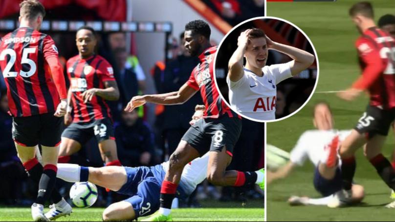 Spurs Defender Juan Foyth Sent Off Two Minutes After Coming On