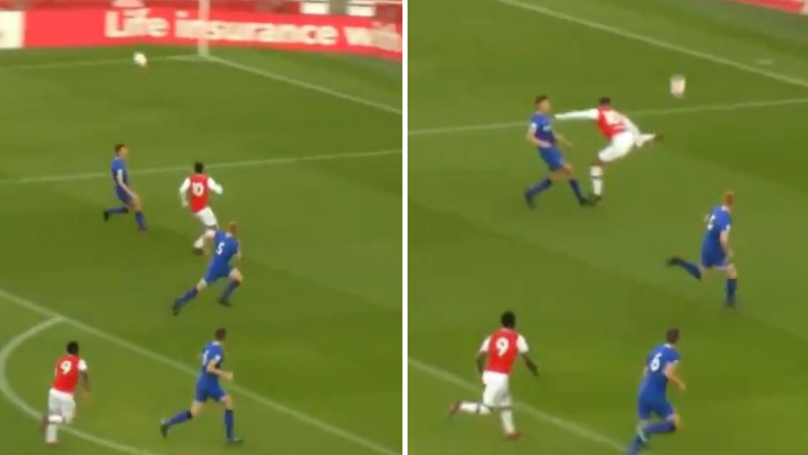 Arsenal's Tyreece John-Jules Scores Sensational Backheel Volley At The Emirates