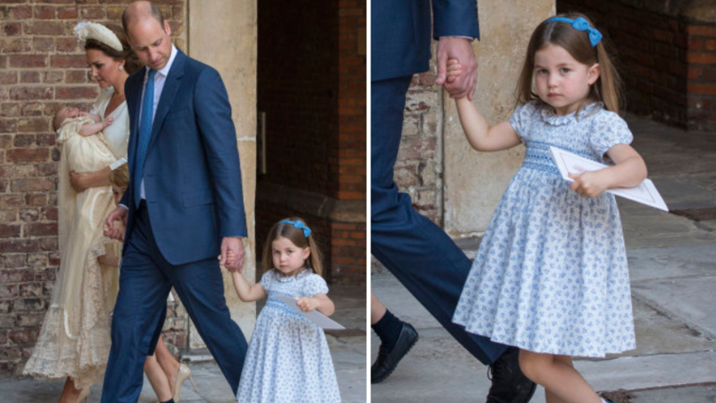 Princess Charlotte Tells Photographer He's 'Not Coming' To Brother Louis' Christening