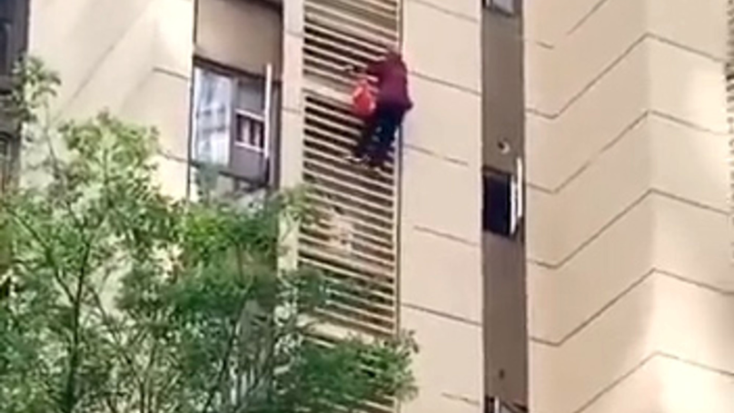 Grandma With Possible Alzheimer's Climbs Down Apartment Block