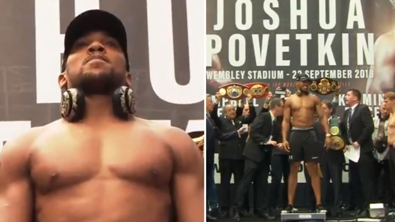 Anthony Joshua Weighs Nearly Two Stone More Than Alexander Povetkin