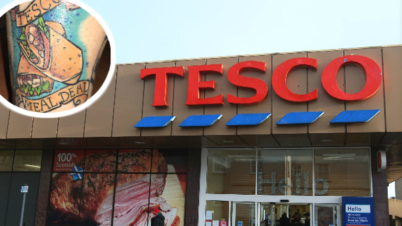 Woman Gets Favourite Tesco Meal Deal Tattooed On Her Leg