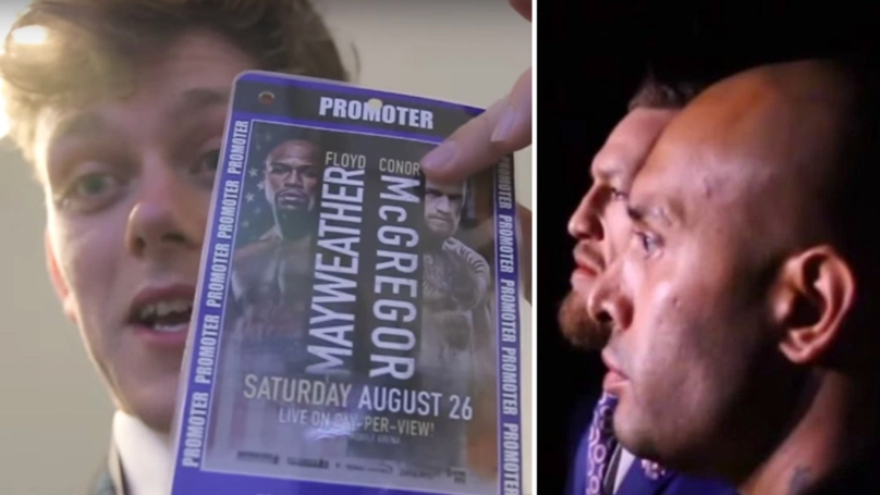 WATCH: Lad Pulls Off The Ultimate Blag At The Mayweather/McGregor Press Conference