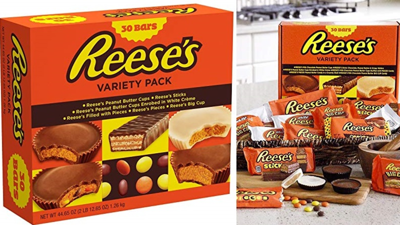You Can Now Buy A 30-Bar Variety Pack Of Reese's Treats