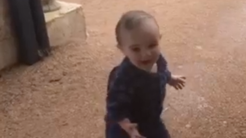 Toddler Sees Rain For The First Time In Drought Stricken South Australia