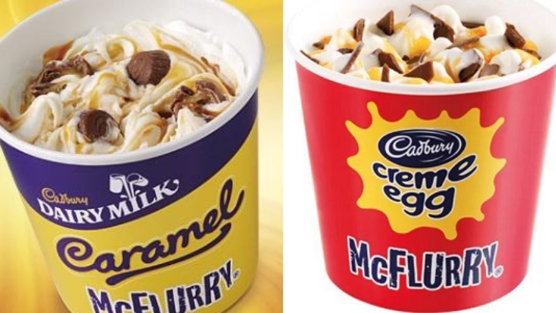 McDonald's Is Bringing Back Crème Egg And Caramel McFlurries