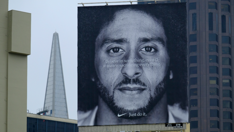 Nike Sales 'Increase By 31%' Since Announcing Colin Kaepernick As Face Of Ads