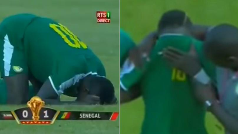 Liverpool's Sadio Mane Breaks Down In Tears After Senegal Match In Emotional Scenes