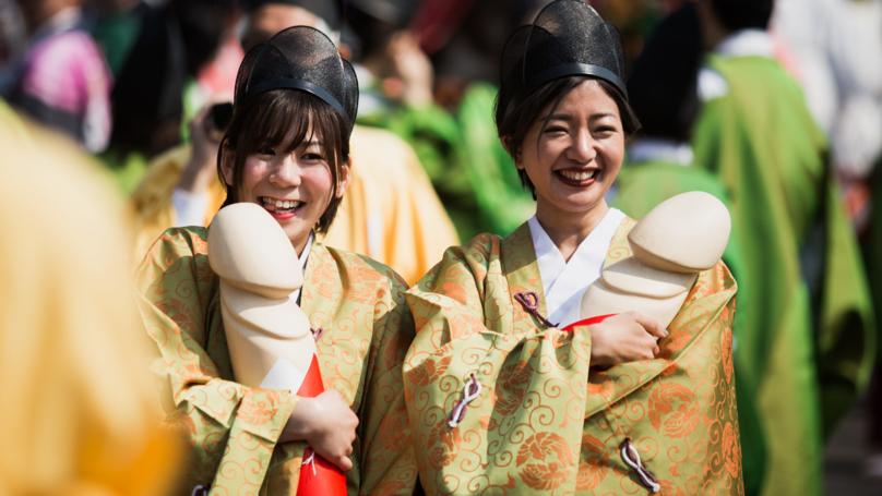 Thousands Gather Holding Giant Penises For Honen-Sai Festival In Japan