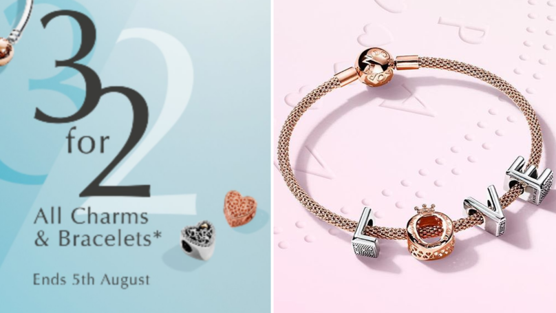 ​There Is A Three For Two Offer On All Pandora Charms And Bracelets