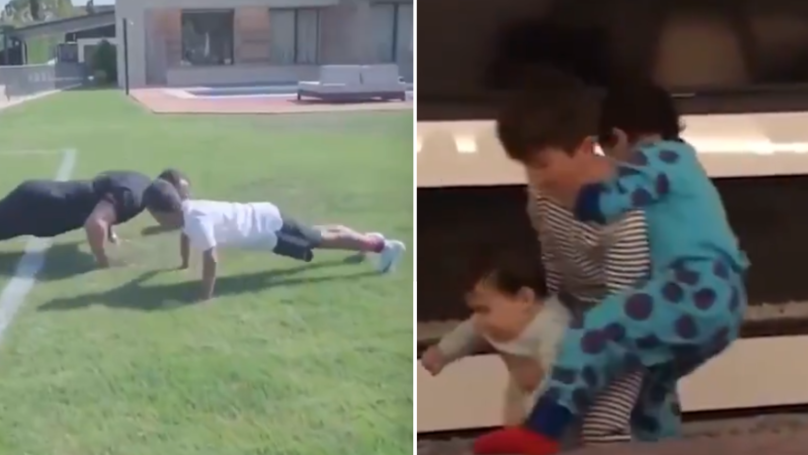 A Hilarious Video Highlights The Difference Between Ronaldo And Messi's Kids