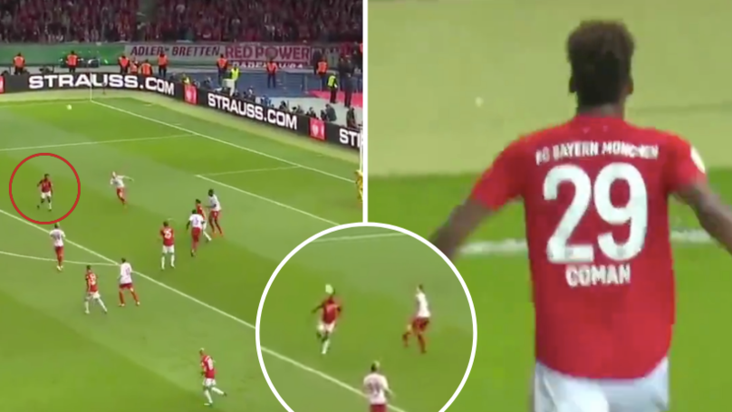 Kingsley Coman Pulls Off The Most Ridiculous 'Fake Shot First Touch' Before Scoring