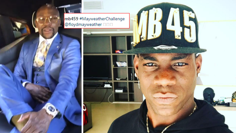 Mario Balotelli Responds To Mayweather's Challenge In Typically Brilliant Fashion