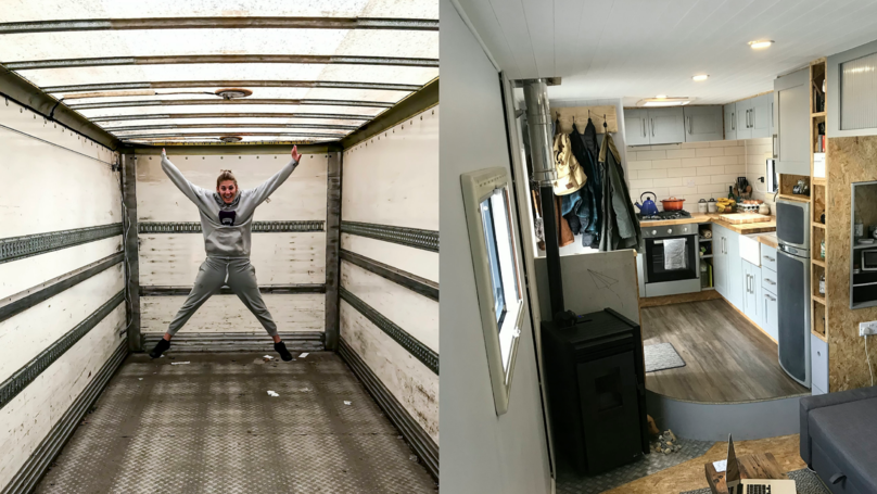 ​Couple Renovate Knackered Old Bread Van Into Dream Home For Just £20k