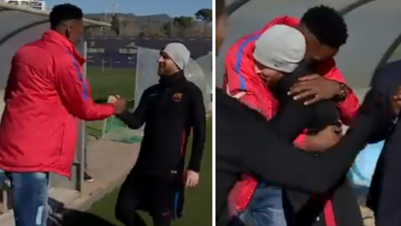 Watch: Yerry Mina Has The Most Humble Reaction To Meeting Messi