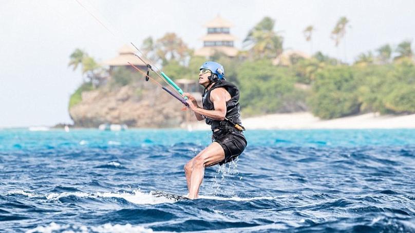Barack Obama Enjoys A Bit Of A Kite-Surfing With Richard Branson