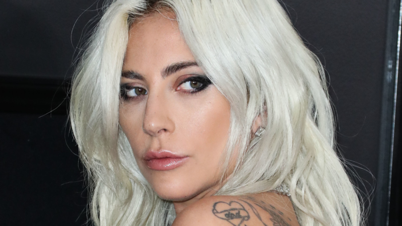 Lady Gaga Gets A Giant Tattoo Inspired By 'A Star Is Born' And A Musical Misspelling Of Her Own Name