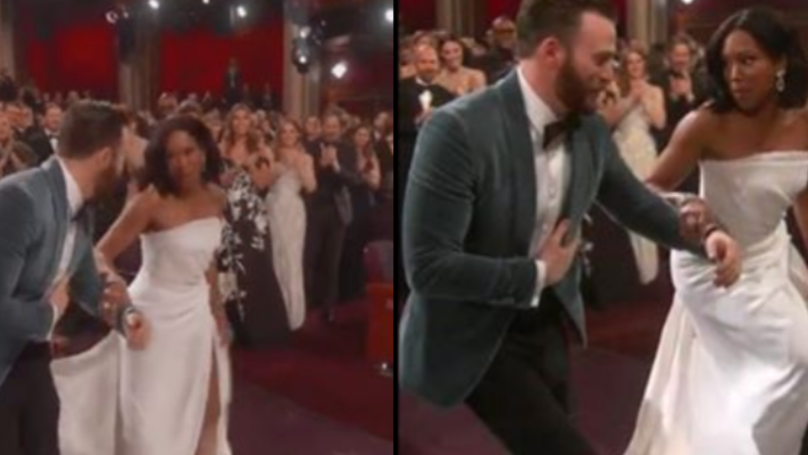Chris Evans Is The Ultimate LAD For Helping Regina King Up The Stairs To Accept Oscar Award