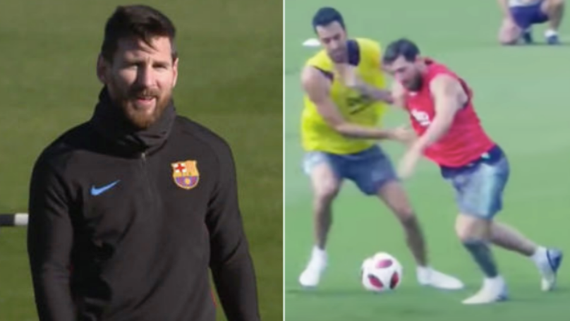 What Lionel Messi Does In Barcelona Training When He Gets Upset