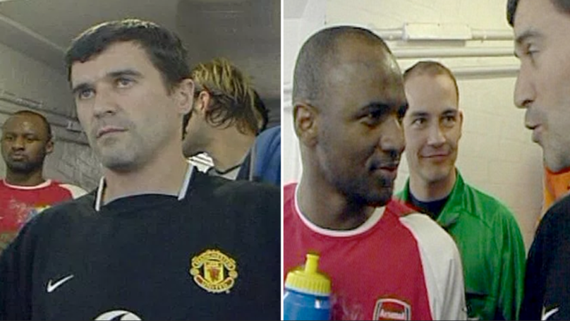 WATCH: Gary Neville Reveals The Truth Behind Keane And Vieira's Infamous Tunnel Bust-Up In 2005