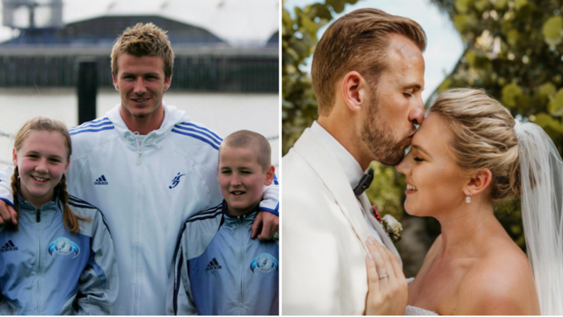 The Moment 11-Year-Old Harry Kane Met David Beckham With Schoolgirl Who Would Become His Wife