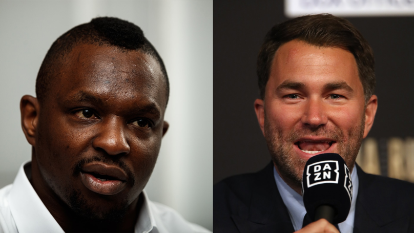 Eddie Hearn Believes Dillian Whyte Could Suffer Shock Defeat Tonight For Same Reasons As Anthony Joshua Did